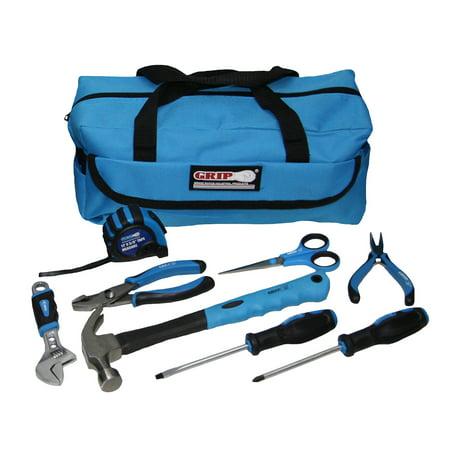Grid Kit - Grip 9 pc Blue Children's Tool Kit