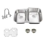 Schon SC267065 Double Basin Undermount Kitchen Sink Set