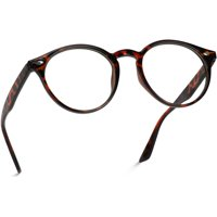 WearMe Pro - Prescription Round Clear Lens Plastic Fashion Glasses WearMe Pro - Clear Thin Frame Over-sized Delicate Non- Prescription Glasses (Frame only)