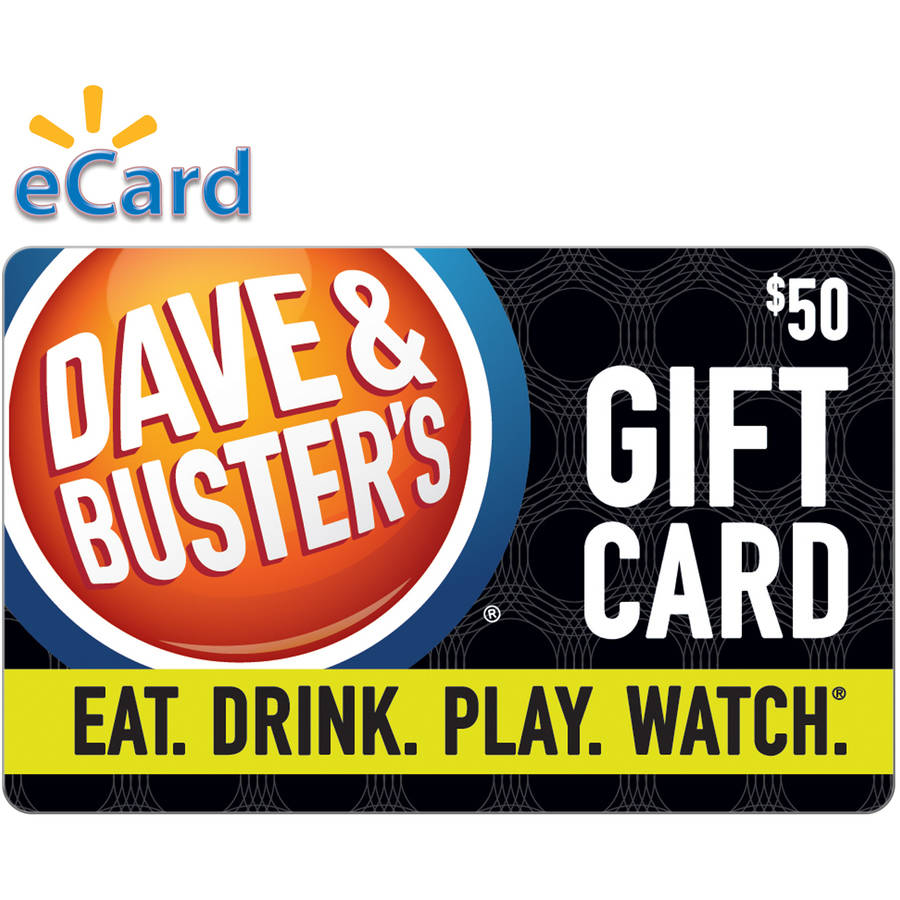 (Email Delivery) Dave & Buster's $50 Gift Card