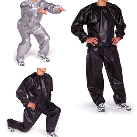 Summer Weight (Black / Silver Fitness Loss Weight Sweat Suit Sauna Summer Outdoor Sports Running Exercise Sauna Suits Gym)
