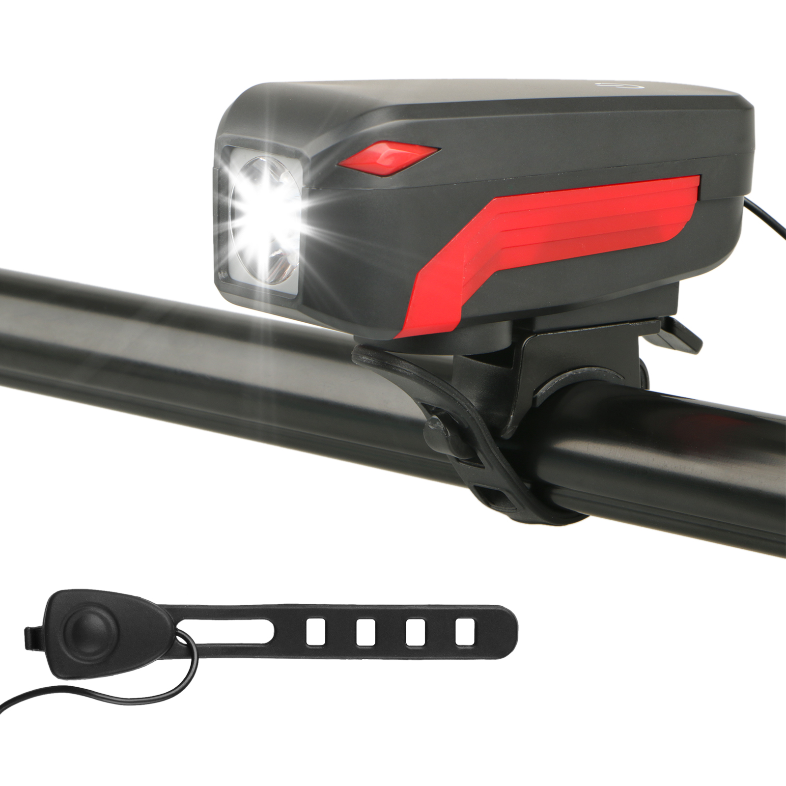 USB Rechargeable T6 LED Bicycle Bike Front Head Light Headlight Lamp +140dB Horn Applying for Night Riding/Emergency Lighting/Outdoor Camping/Wilderness Exploration