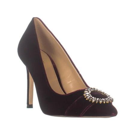 Womens Viola (Womens MICHAEL Michael Kors Viola Pointed Toe Pumps, Oxblood)