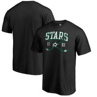 Dallas Stars Fanatics Branded Vintage Collection Line Shift Big and Tall T-Shirt - Black