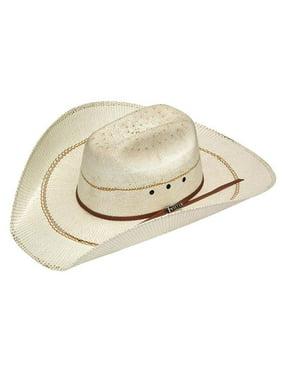 Twister T73376-7 Mens Bangora Straw Cowboy Hat, Tan - Size 7
