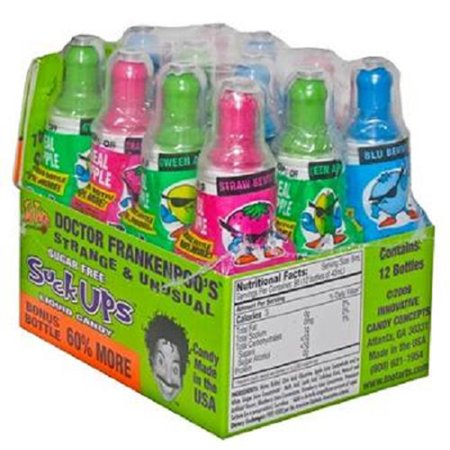 Product Of Too Tarts, Suck Ups Liquid Candy - Bottle, Count 12 - Sugar Candy / Grab Varieties & Flavors](Too Much Candy On Halloween)
