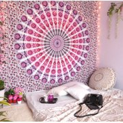 Pink Indian Wall Hanging Tapestry Boho Tapestries Mandala Wall Hanging Decor Bohemian Hippie Queen Bedspread Throw Beach Throw Blanket Online