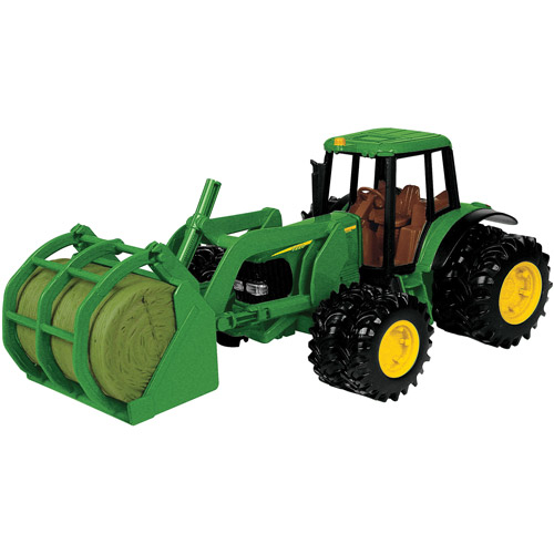 John Deere Toy Tractor Set, 7220 Tractor & Bale Mover, 1:16 Scale
