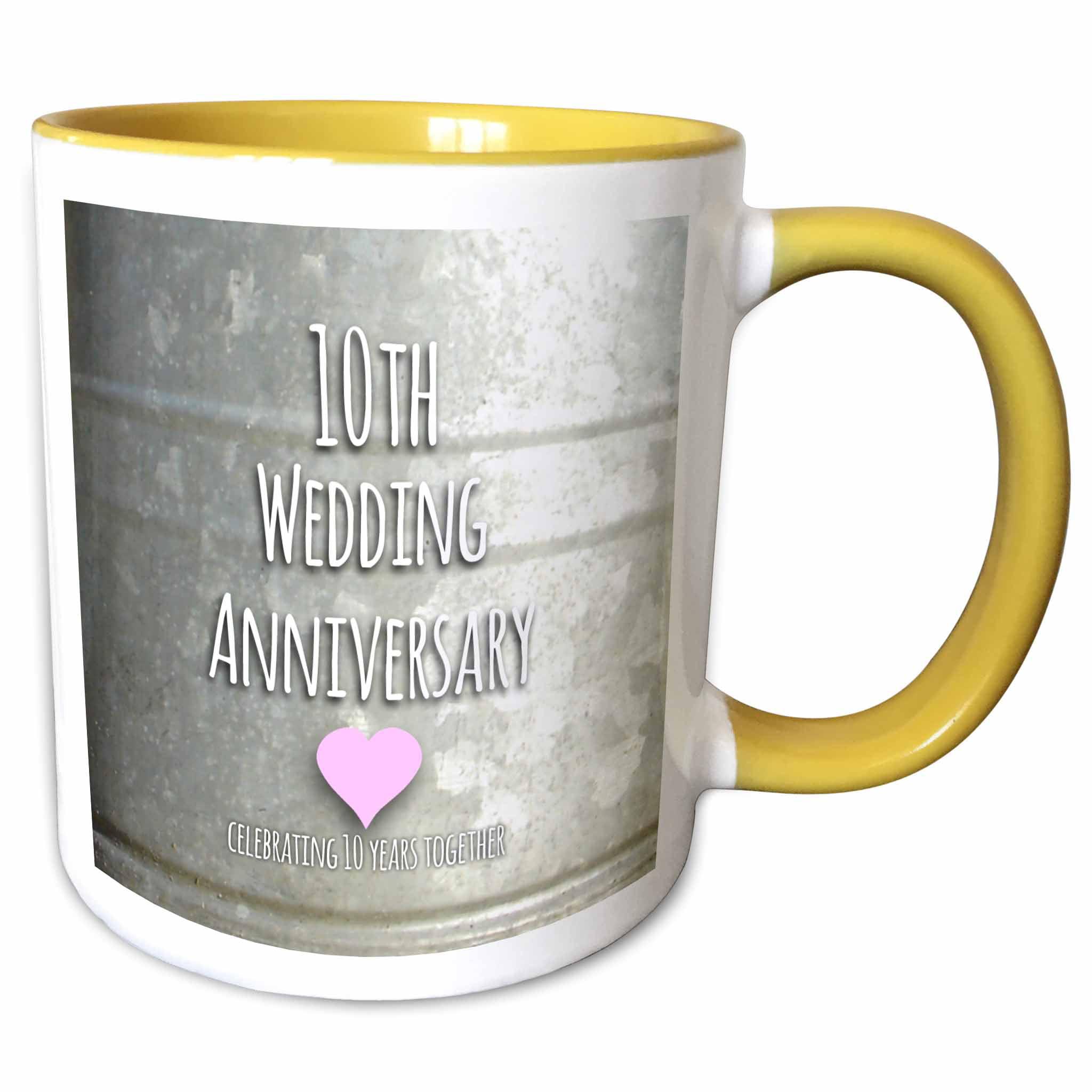 3dRose 10th Wedding Anniversary gift - Tin celebrating 10 ...