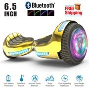 """UL2272 Certified TOP LED 6.5"""" Hoverboard Two Wheel Self Balancing Scooter Chrome GOLD"""