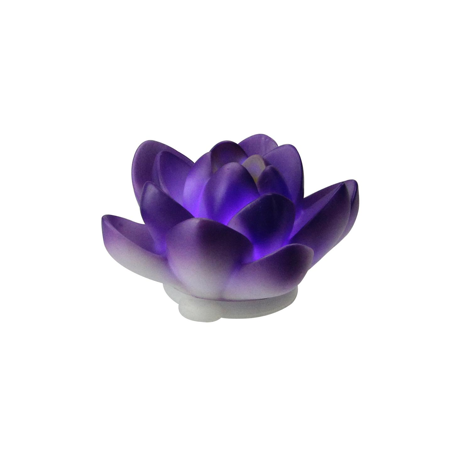 """4"""" Floating Purple Flower LED Color Changing Patio or Swimming Pool Light - image 1 of 2"""