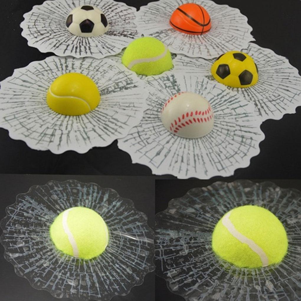 Transparent 3D Ball Car Stickers Broken Glass Decoration Car Auto Decor