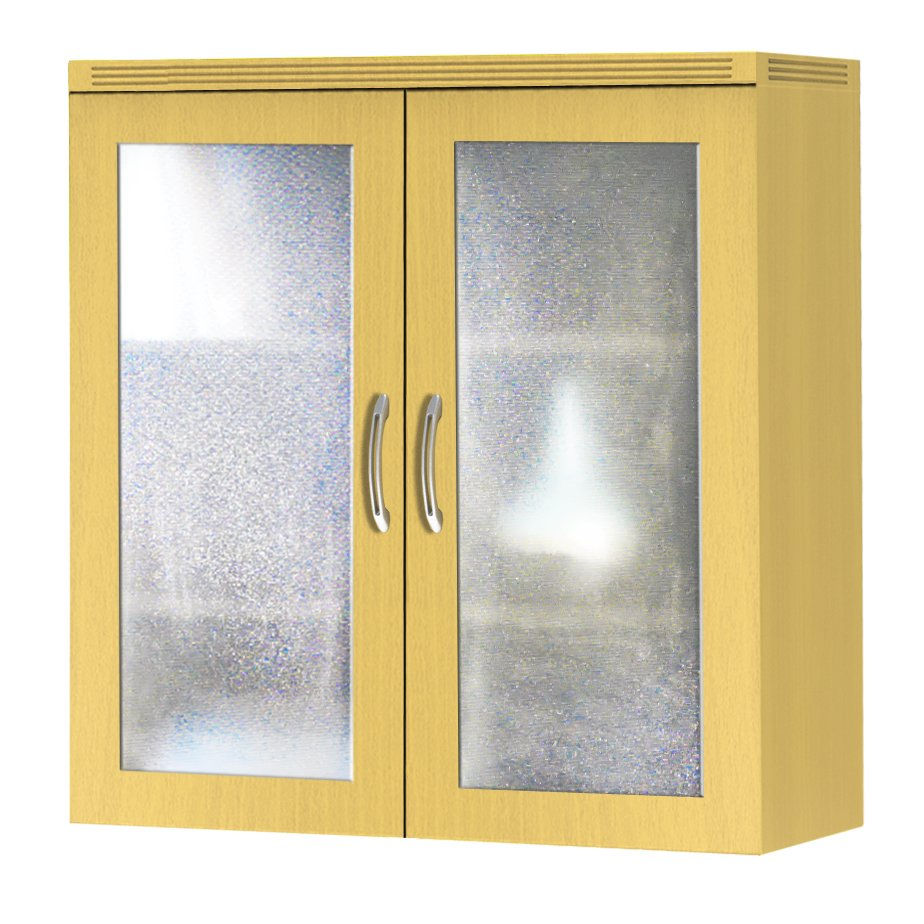 Image of Aberdeen Laminate and Glass Storage Cabinet