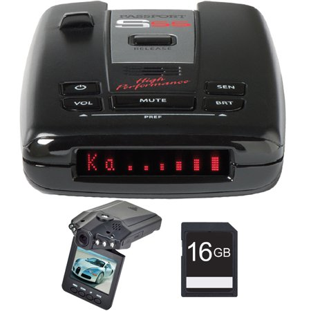 Escort Passport S55 High Performance Radar And Laser Detector With Dsp With Bundle Includes  Xtreme  Automotive Hd Dvr Ir Night Vision Hd Dash Camera W  2 4   Lcd   16Gb Sdhc High Speed Memory Card