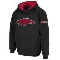 Arkansas Razorbacks Stadium Athletic Youth Big Logo Pullover Hoodie - Black