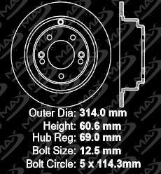 10 11 12 13 Fit Hyundai Genesis Coupe Max Performance Metallic Brake Pads F+R