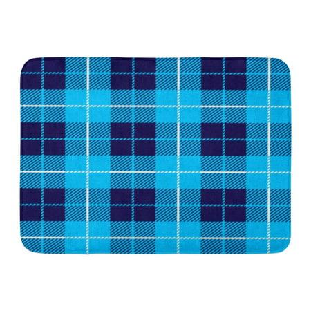 Godpok Check White British Tartan Plaid Blue Pattern