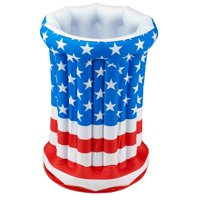 "Patriotic Inflatable Cooler, 26"" tall"