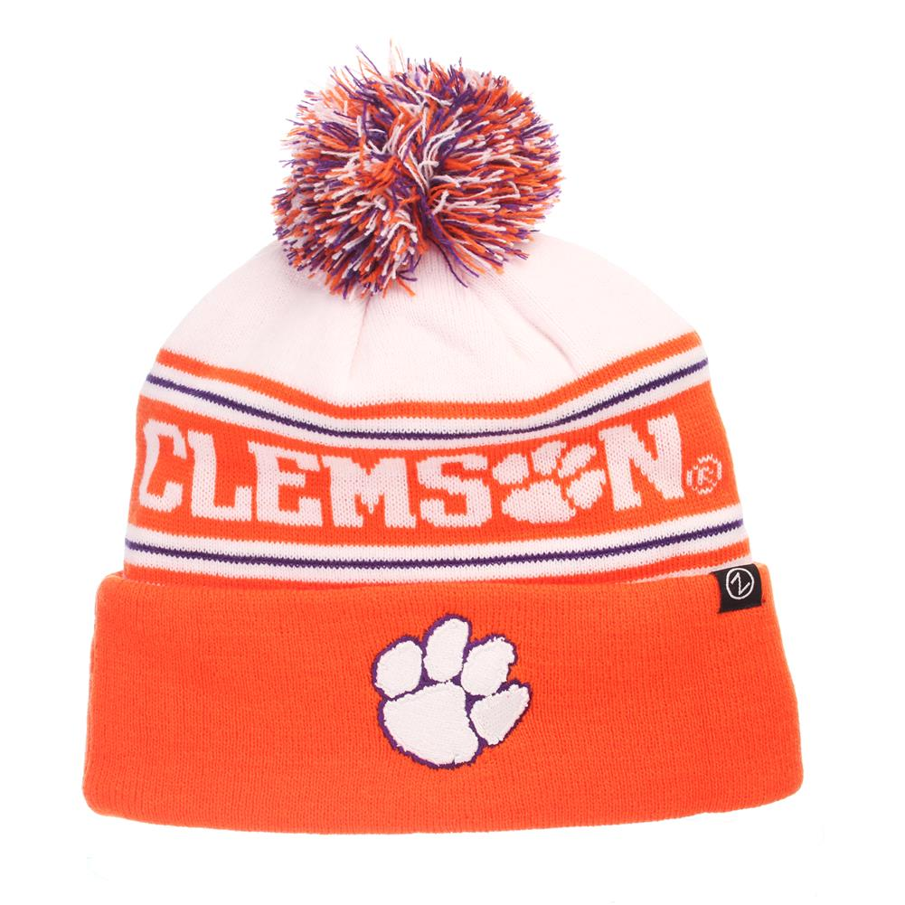 126b5e7f168e05 ... new zealand zephyr finish line clemson university tigers beanie knit  toboggan f83df dbd43