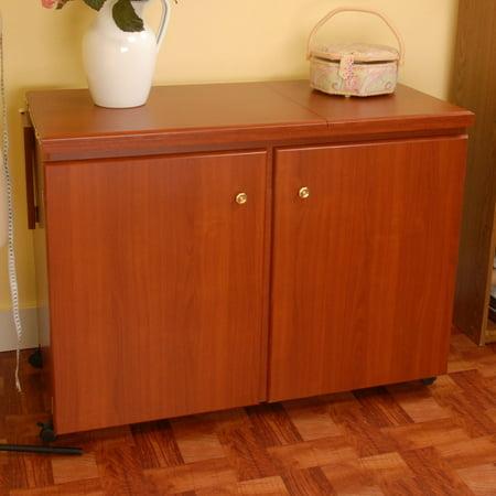 Arrow Bertha Sewing Cabinet With Air Lift Mechanism Walmart Fascinating Bertha Sewing Machine Cabinet