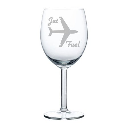 Pilot And Flight Attendant Costume (Wine Glass Goblet Airplane Pilot Flight Attendant Frequent Flyer Travel Jet Fuel (10)