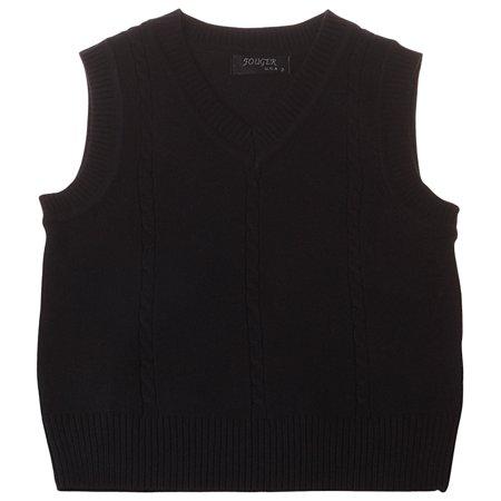 29338277b962e Enimay Kids School Uniform Knit Sweater V-Neck Vest Argyle Pattern Pullover  Solid Black 4 Year - Walmart.com