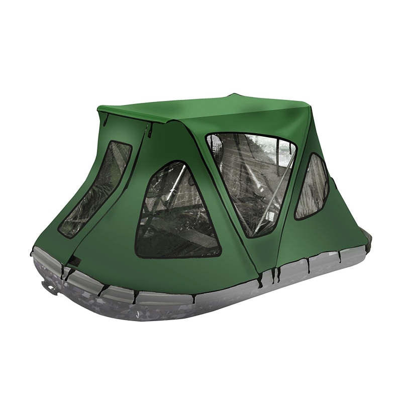 ALEKO BWTENT320GR Winter Canopy Boat Tent Rain Sun Wind Snow Waterproof Shelter Covering for Inflatable Boat, Green by ALEKO