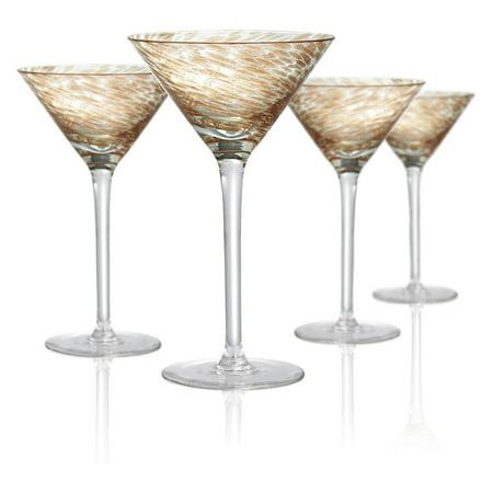 Artland Misty Martini Glasses - Set of - Purple Martini Glasses