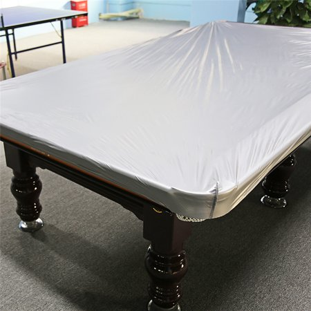 Anauto Billiard Table Cover, 8 Feet Dustproof Moistureproof PVC Cloth Billiard Table Protection Cover Accessory For Pool Table Billiard, Silver (Olive Billiard Cloth)