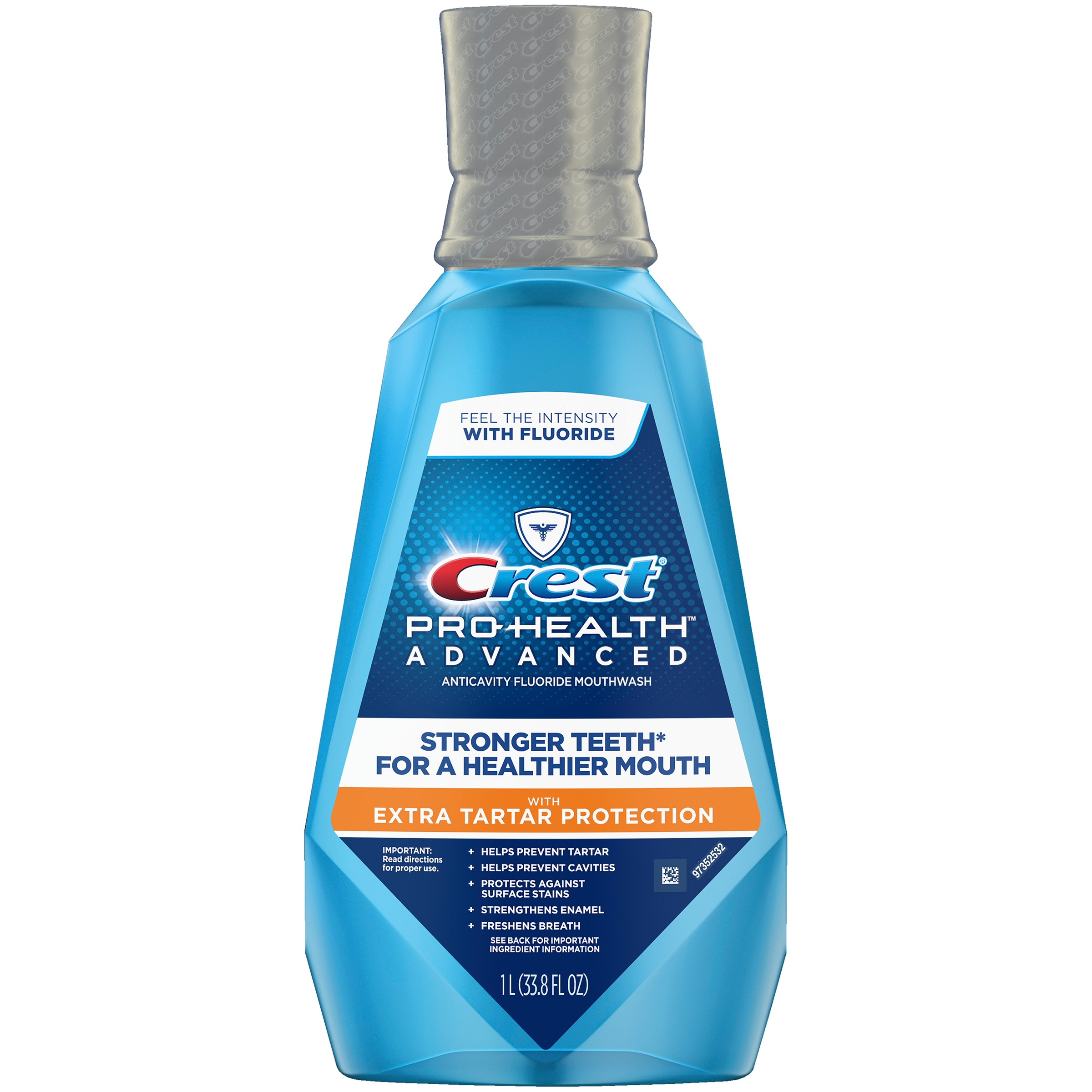 Crest Pro-Health Advanced Mouthwash with Extra Tartar Protection, Refreshing Mint, 1 L