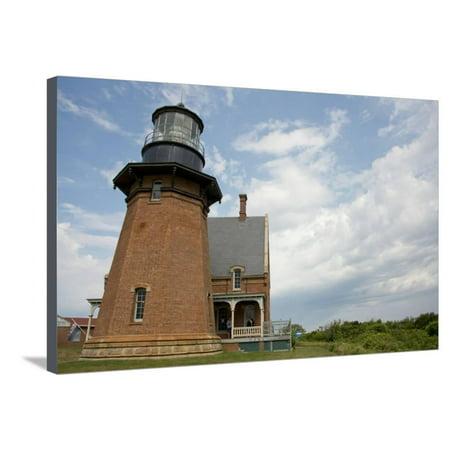 USA, Rhode Island, Block Island, Mohegan Bluffs, Southeast Lighthouse. Stretched Canvas Print Wall Art By Cindy Miller Hopkins (Southeast Lighthouse Block Island)