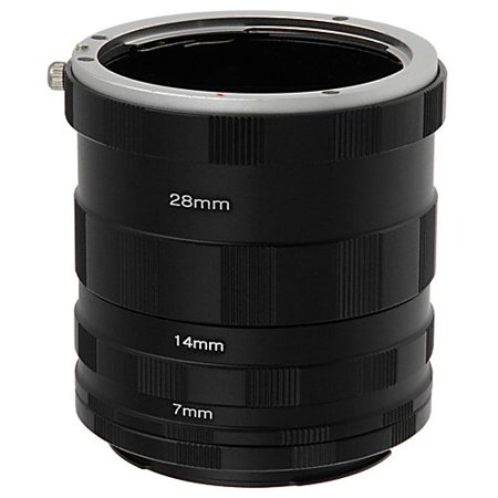 Fotodiox Macro Extension Tube Set Kit for Extreme Close-up for Sony A-Series Alpha Digital SLRs, fits Sony A100, A200, A230, A290, A300, A330, A350, A380, A390, A450, A500, A550, A560,