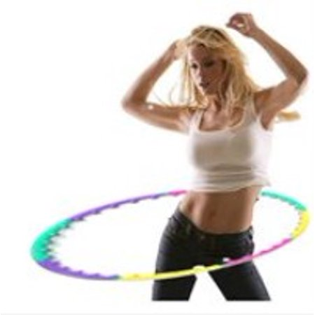 Zimtown Adjustable Portable Magnetic Treatment Therapy Massage Hula Hoop Weighted 2.4 Pounds for  Weight Loss Fitness Abdominal Exercise