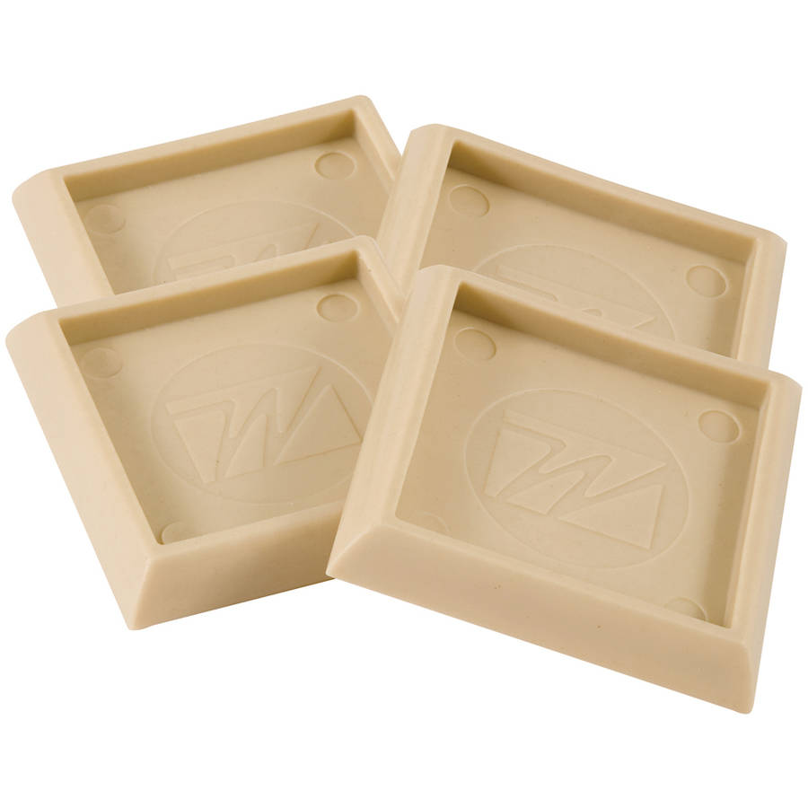 "Waxman Consumer Group 4652795N 2"" Almond Square Caster Cups, 4 Count"