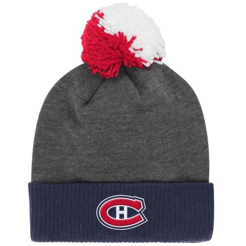 Montreal Canadiens Reebok Face-Off Heathered Gray Cuffed Knit Hat - Heather Gray - OSFA