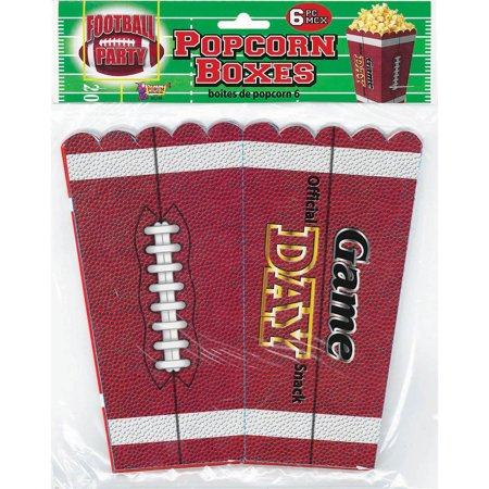 Football Party Popcorn Containers - Football Popcorn Boxes