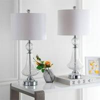 Safavieh Mercury Crackle Glass 25.5 in. H Table Lamp, Set of 2