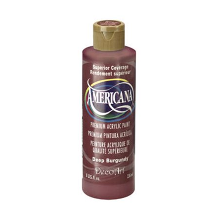 DecoArt Americana Acrylic Paint. Deep Burgundy. 8 oz Decoart Americana Acrylic Paints