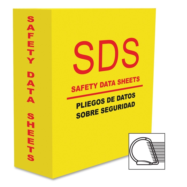 """Aurora Heavy-duty Sds-2 D-ring Binder - Letter - 8.50"""" X 11"""" - 10 Sheet Capacity - 3 X D-ring Fastener - 1 Pockets - Pp-covered Cardboard - Yellow - 1 Each (AUA13086)"""