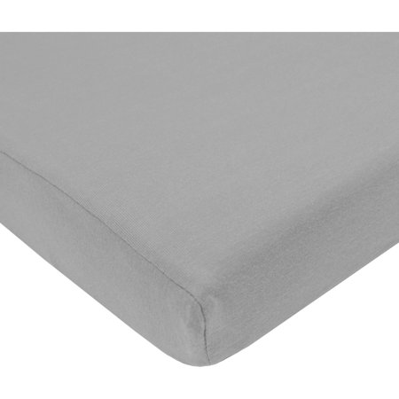 Tl Care Cotton Jersey Knit Pack N Play Sheet  Grey
