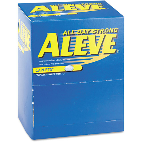 Aleve Pain Reliever/Fever Reducer Caplets, 50 count