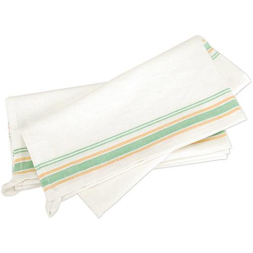 "Vintage 1930's Stripe Towel, 18"" x 28"", 3/pkg"