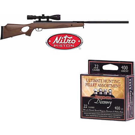 - Benjamin Trail Nitro Piston XL 1100 .22cal and 400 pellets Package