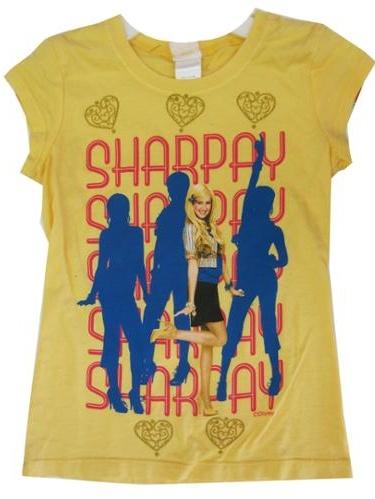 """Girls Yellow High School Musical """"Sharpay"""" Print T-Shirt 7-16"""
