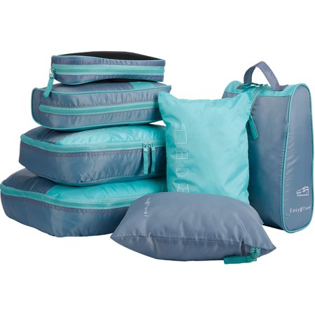 Travel Pack Series - 7 Set Packing Cubes, LANGRIA Travel Luggage Organizers with Laundry Bag & Shoe Bag