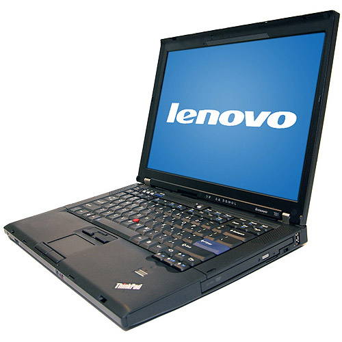 "Lenovo Pre-Owned,  Refurbished Black 14"" T61 ThinkPad Laptop PC with Intel Core 2 Duo Processor and Windows XP Professional"