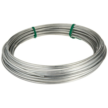 - 122062 Galvanized Solid Utility Wire, 9 Gauge, 50 Foot Coil, Multi-purpose wire ideal for workshop, garden, house and farm applications By Hillman