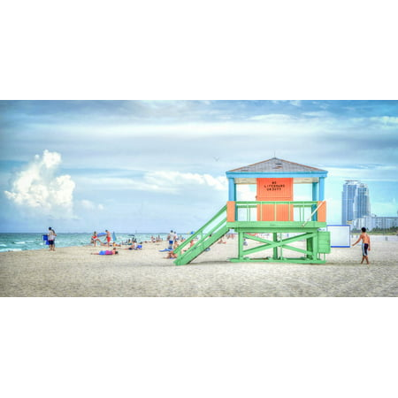 LAMINATED POSTER Ocean Florida Vacation South Beach Lifeguard Stand Poster Print 24 x