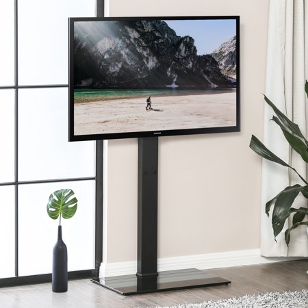 FITUEYES Universal TV Stand Base with Swivel Mount Height Adjustable for 32 to 65 Inch TV, TT107501MB ()