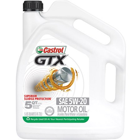 castrol gtx 5w 20 conventional motor oil 5 qt